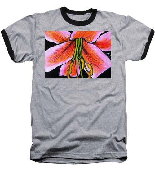 Pink Lily Baseball T-Shirt