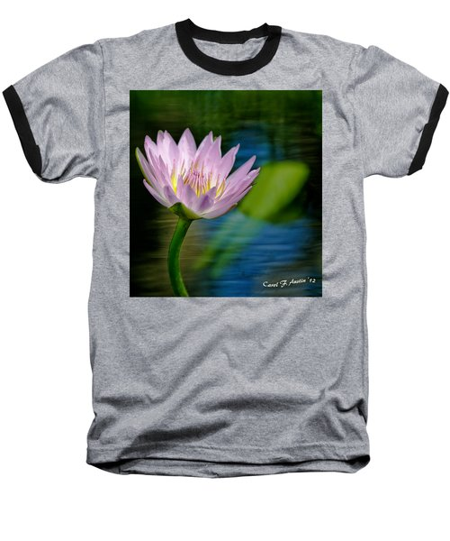 Purple Petals Lotus Flower Impressionism Baseball T-Shirt