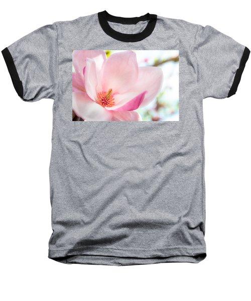 Pink Magnolia Baseball T-Shirt