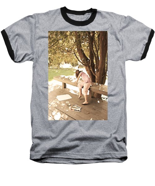 Baseball T-Shirt featuring the photograph Pink Painter by Brooke T Ryan