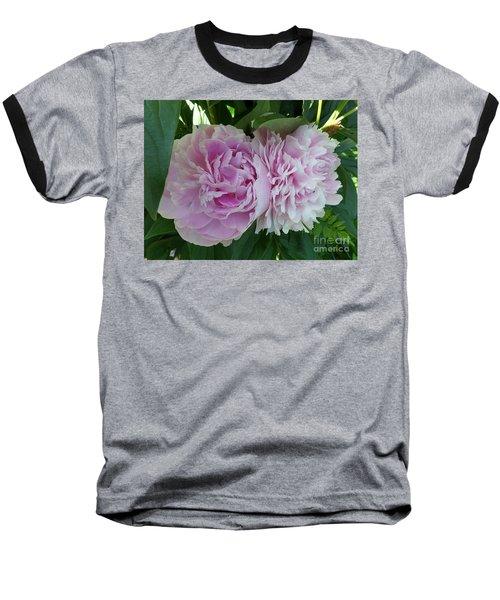 Pink Peonies 2 Baseball T-Shirt by HEVi FineArt