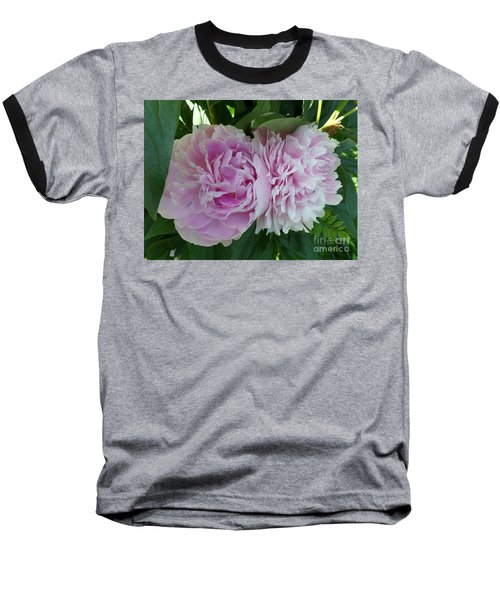Pink Peonies 2 Baseball T-Shirt