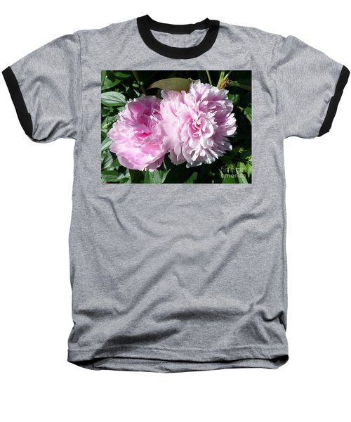 Pink Peonies 3 Baseball T-Shirt