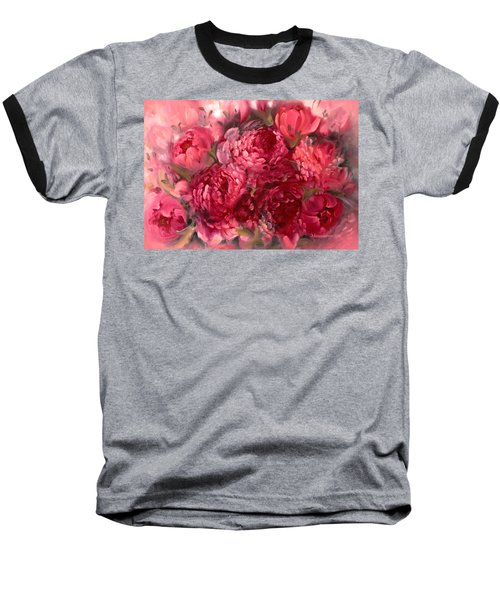 Pink Peonies Baseball T-Shirt