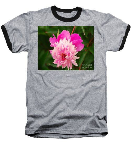 Baseball T-Shirt featuring the photograph Pink Peony by Mary Carol Story