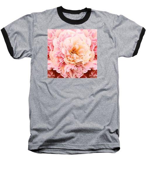 Pink Peony Baseball T-Shirt
