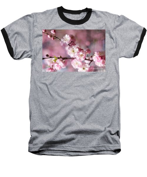 Pink Plum Branch 1 Baseball T-Shirt