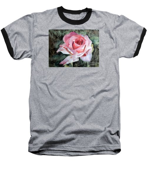 Pink Rose Greg Baseball T-Shirt