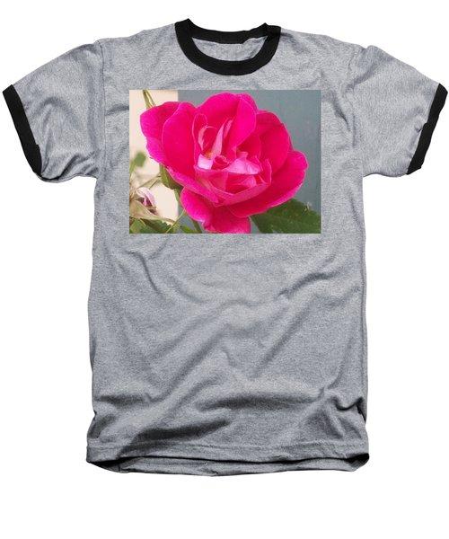 Pink Rose Baseball T-Shirt
