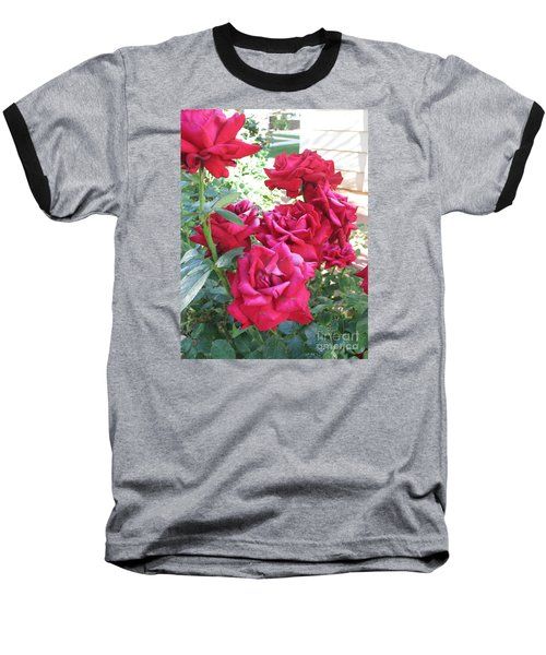 Baseball T-Shirt featuring the photograph Pink Roses by Chrisann Ellis