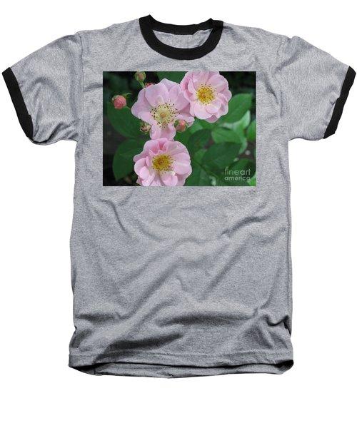 Pink Roses Baseball T-Shirt by HEVi FineArt
