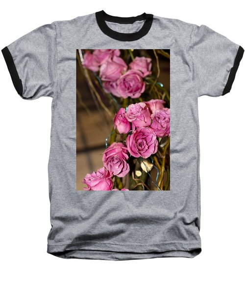 Baseball T-Shirt featuring the photograph Pink Roses by Patrice Zinck