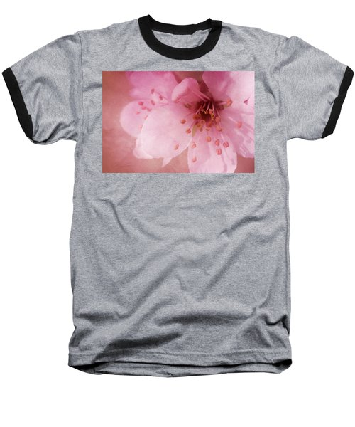 Baseball T-Shirt featuring the photograph Pink Spring Blossom by Ann Lauwers