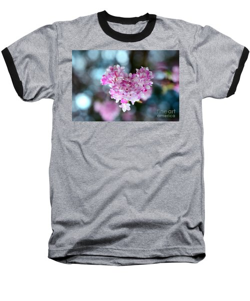 Pink Spring Heart Baseball T-Shirt by Sabine Jacobs