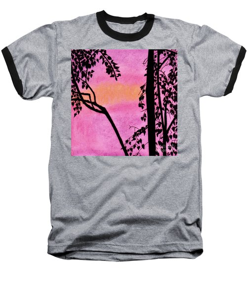Baseball T-Shirt featuring the drawing Pink Sky Sunset by D Hackett