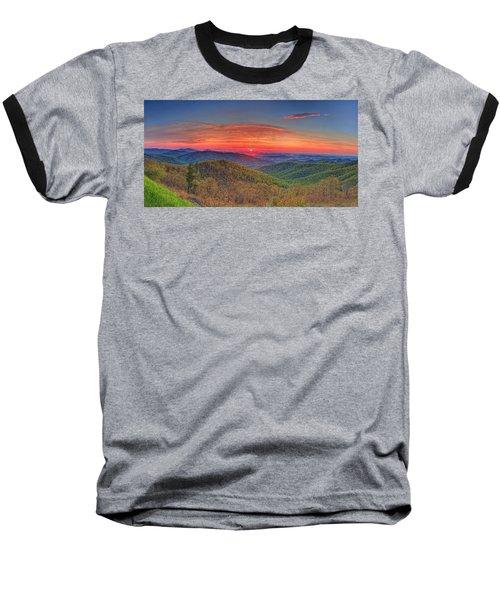 Pink Sunrise At Skyline Drive Baseball T-Shirt