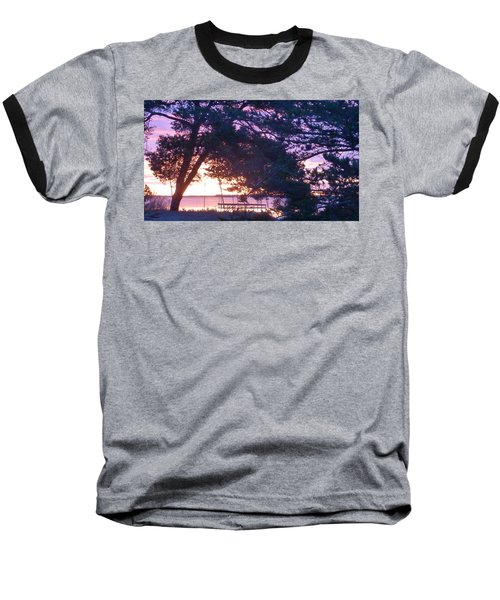 Pink Sunrise Baseball T-Shirt