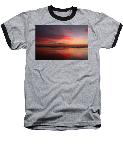 Ocean Sunset Reflected  Baseball T-Shirt