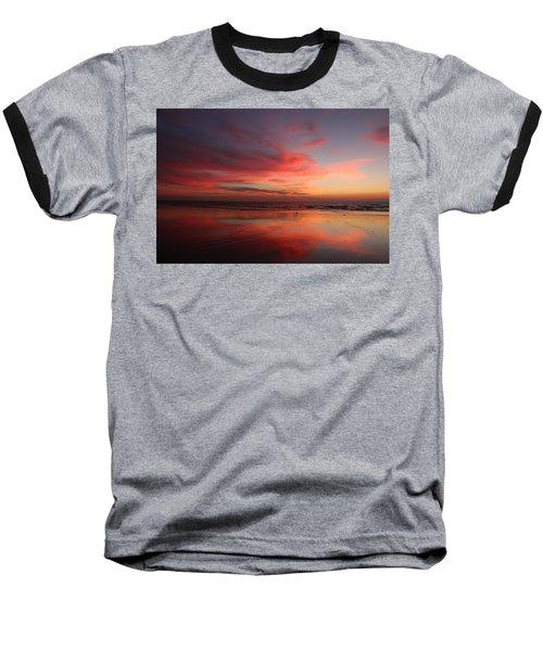 Ocean Sunset Reflected  Baseball T-Shirt