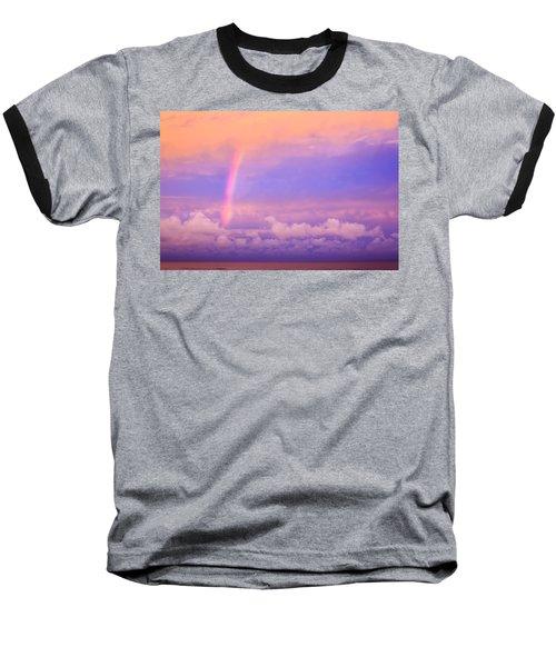 Baseball T-Shirt featuring the photograph Pink Sunset Rainbow by Peta Thames