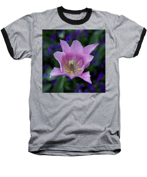 Pink Tulip Flower With A Spot Of Green Fine Art Floral Photography Print Baseball T-Shirt