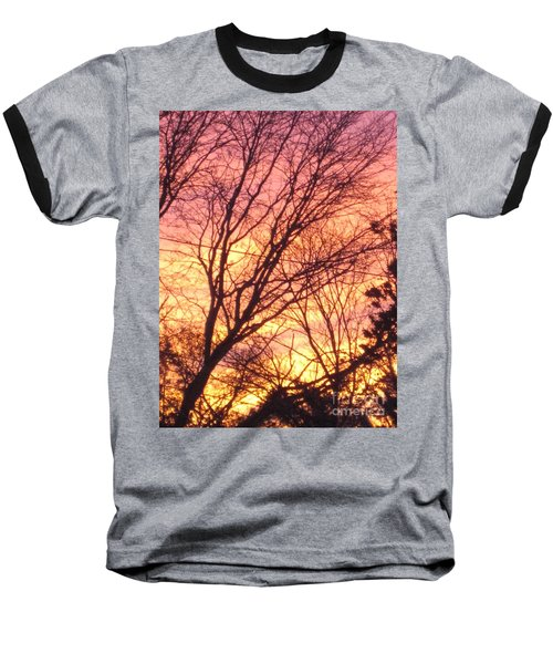 Pink Twilight Baseball T-Shirt