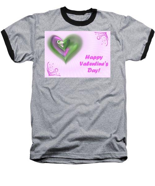 Pink Valentine Baseball T-Shirt