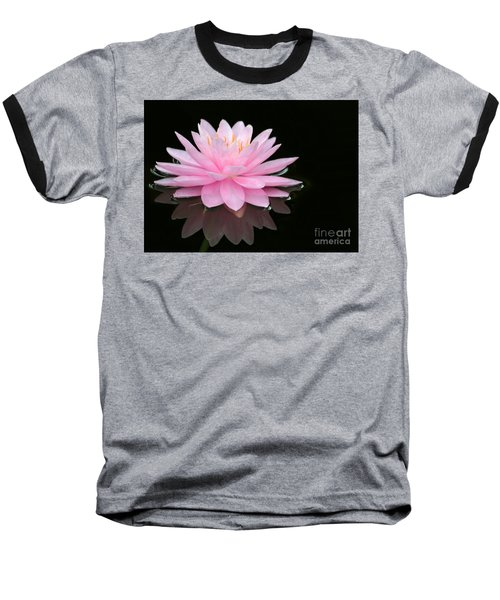 Pink Water Lily In A Dark Pond Baseball T-Shirt