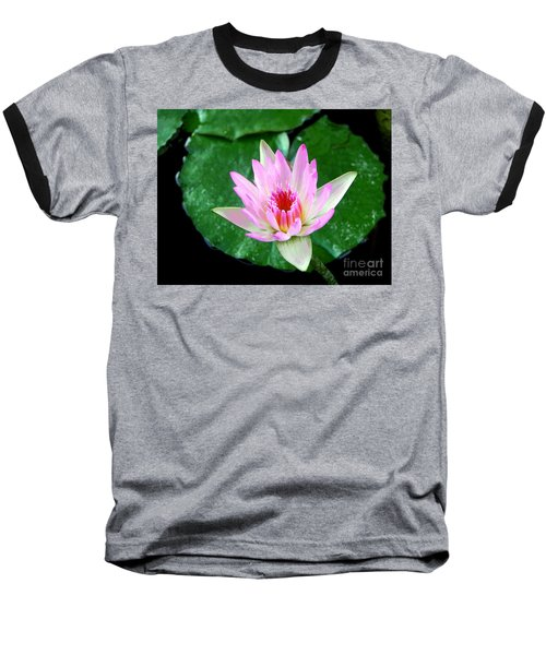 Baseball T-Shirt featuring the photograph Pink Waterlily Flower by David Lawson