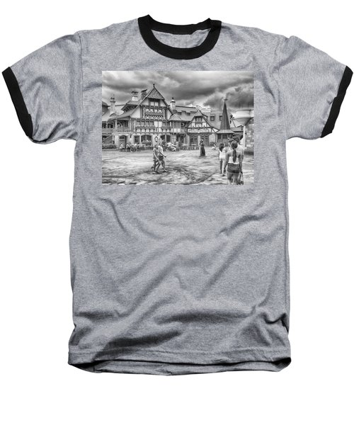 Baseball T-Shirt featuring the photograph Pinocchio's Village Haus by Howard Salmon