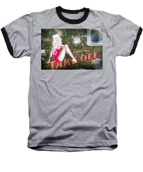 Pinup Girl - Aircraft Nose Art - Take Off Anne Baseball T-Shirt
