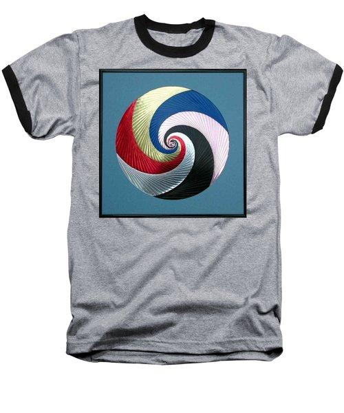 Baseball T-Shirt featuring the mixed media Pinwheel by Ron Davidson