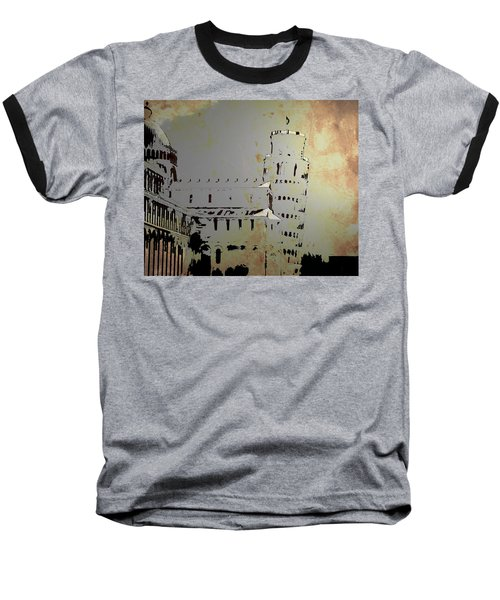 Baseball T-Shirt featuring the digital art Pisa Italy 1 by Brian Reaves