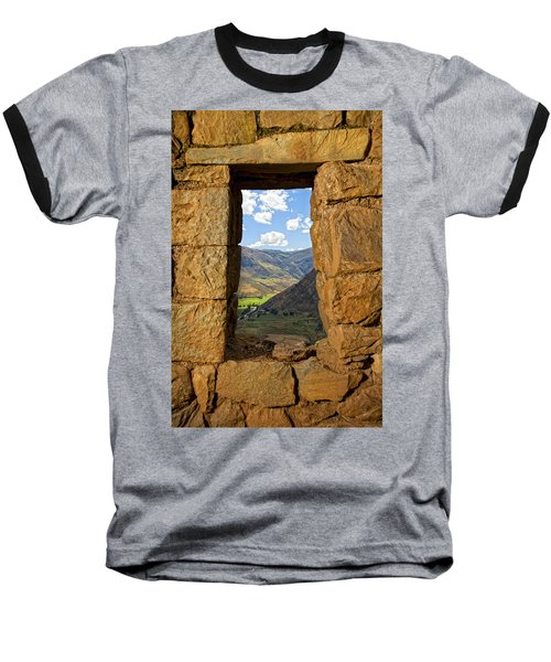 Pisac Ruins Baseball T-Shirt by Alexey Stiop