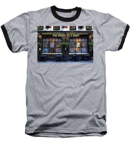 Pissed As A Newt Pub  Baseball T-Shirt by David Pyatt