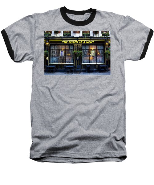 Pissed As A Newt Pub  Baseball T-Shirt