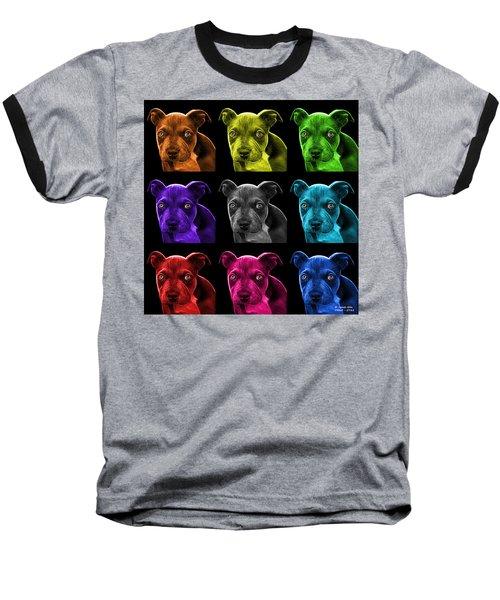 Pitbull Puppy Pop Art - 7085 Bb - M Baseball T-Shirt