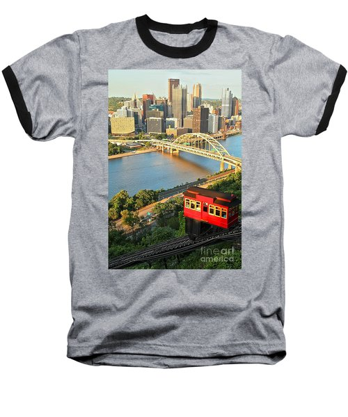 Pittsburgh Duquesne Incline Baseball T-Shirt