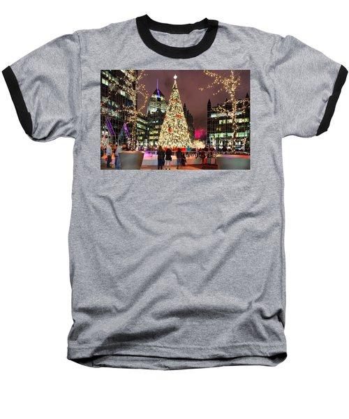 Pittsburgh Holiday Season 2 Baseball T-Shirt by Emmanuel Panagiotakis