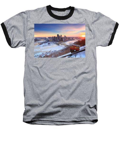 Pittsburgh Winter 2 Baseball T-Shirt by Emmanuel Panagiotakis