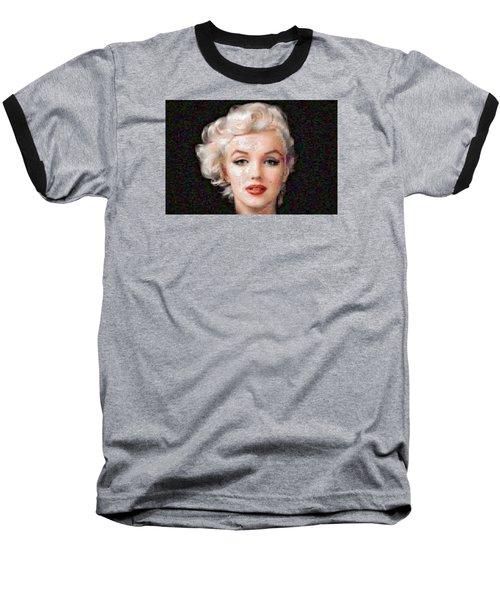 Pixelated Marilyn Baseball T-Shirt