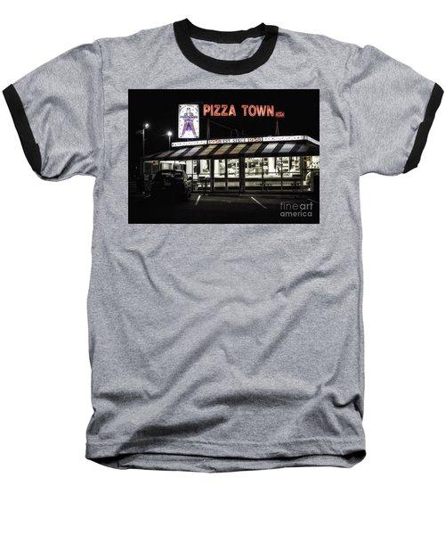 Pizza Town Baseball T-Shirt