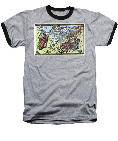 Baseball T-Shirt featuring the painting Plague Of Hail by Granger