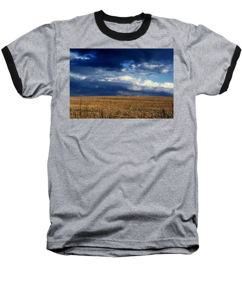 Baseball T-Shirt featuring the photograph Plain Sky by Rodney Lee Williams