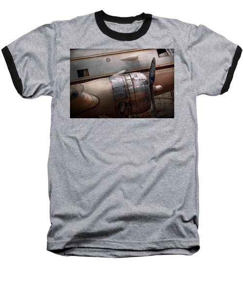 Baseball T-Shirt featuring the photograph Plane - A Little Rough Around The Edges by Mike Savad
