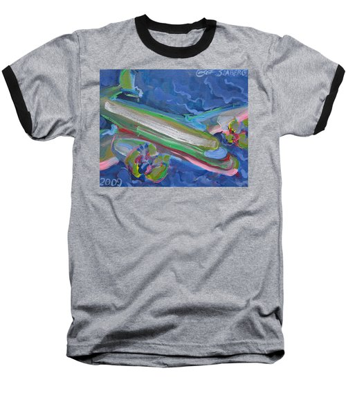 Plane Colorful Baseball T-Shirt