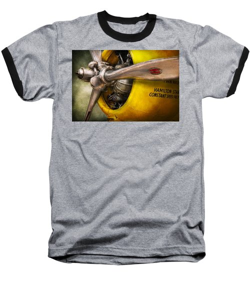 Plane - Pilot - Prop - Twin Wasp Baseball T-Shirt