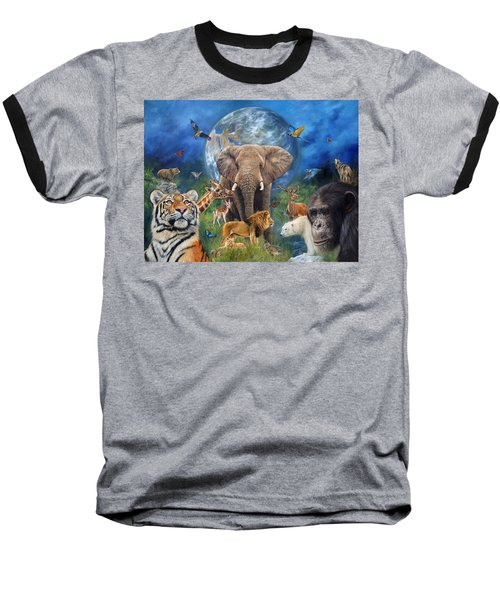 Planet Earth Baseball T-Shirt