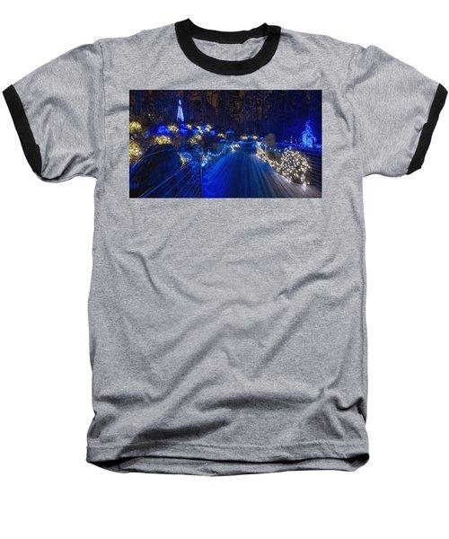 Plank Bridge - Panoramic Baseball T-Shirt