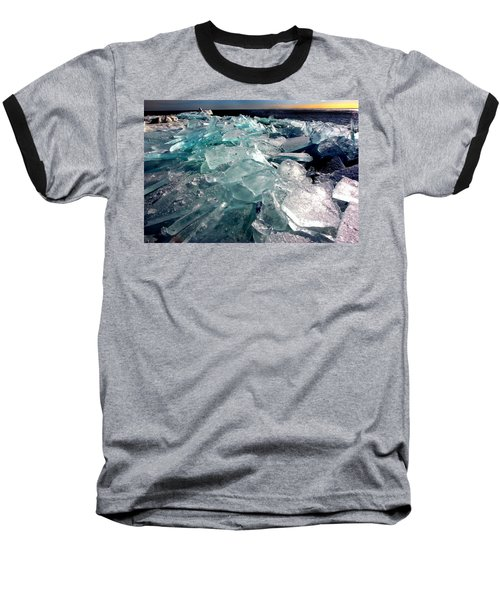 Plate Ice  Baseball T-Shirt by Amanda Stadther